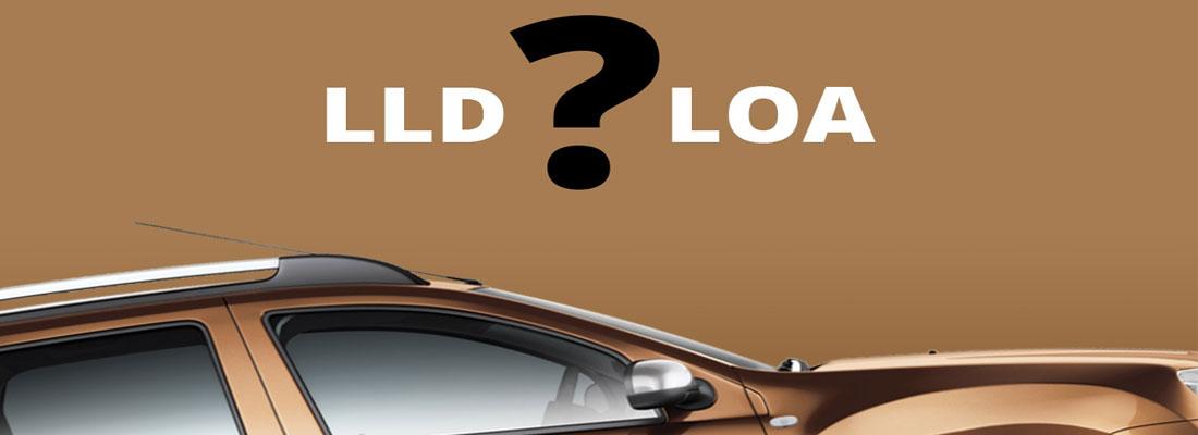 LLD et LOA de voitures